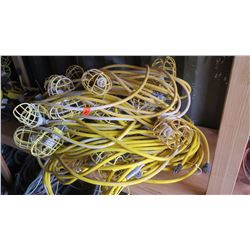 Large Bundle Plastic-Cage Utility String Lights - Yellow Cabling