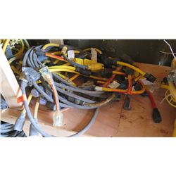 Huge Lot of Misc. Electrical Extension Cables, Splitters (3-Prong, 220V, etc)