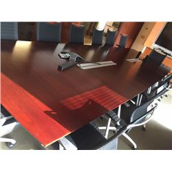 Conference Table w/8 Beige Rolling Chairs (Black Chairs Not Included-See 5th Picture)