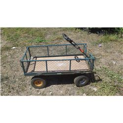 4-Wheel Wagon w/Wire Sides