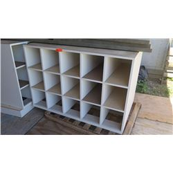 Work Table w/18-Compartment Cubby Stograge Base