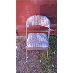Qty 35 Samsonite Folding Metal Chairs w/Padded, Upholstered Seat & Backrest