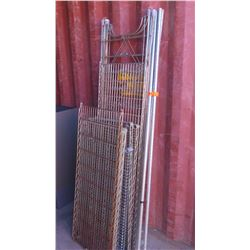 Misc. Commercial Wire Shelving and Lt Gray Metal Shelving System (no top)