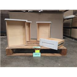 """Qty 4 Pre-Finished Maple Cabinet Drawer Boxes 4""""H x 13-15/16""""D x 19-3/4""""L"""