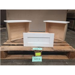 "Qty 3 Pre-Finished Maple Cabinet Drawer Boxes - 6""H x 13-3/4""D, 16-15/16""L"