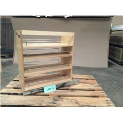 """New Maple Pullout Spice Rack - 25""""H x 22-3/8""""W x 10-7/8""""D"""