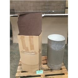 Qty 4 Brown Laminate Sheets (for woodworking, cabinetry)