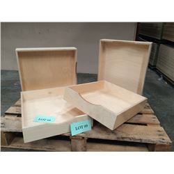 "Qty 4 Pre-Finish Birch Scoop Drawer Boxes - 4""H x 16-7/8""W x 20""D"
