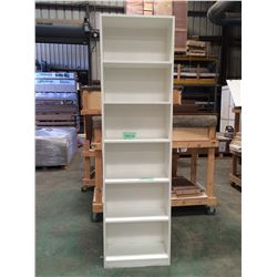 "Vertical Freestanding Shelving Unit w/6 Shelves - White Plywood.  25-1/2""w x 12""d x 92""h"