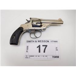SMITH & WESSON , MODEL: TB  HAMMER 32 NO 1 1/2 DA MOD. 4 , CALIBER: 32 S & W
