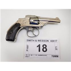 SMITH & WESSON , MODEL: TB 32 NO 1 1/2 HAMMERLESS MOD 1 , CALIBER: 32 S & W