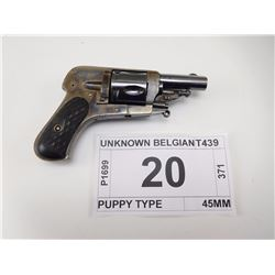 UNKNOWN BELGIAN , MODEL: PUPPY TYPE , CALIBER: 32 CENTER FIRE