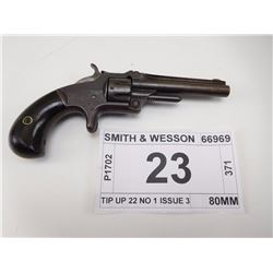 SMITH & WESSON , MODEL: TIP UP 22 NO 1 ISSUE 3 , CALIBER: 22 SHORT