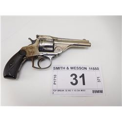 SMITH & WESSON , MODEL: TOP BREAK 32 NO 1 1/2 DA MOD 2  , CALIBER: 32 S & W