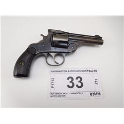 HARRINGTON & RICHARDSON , MODEL: TOP BREAK MOD 3 VARIATION 9 AUTO EJECTOR , CALIBER: 38 S & W