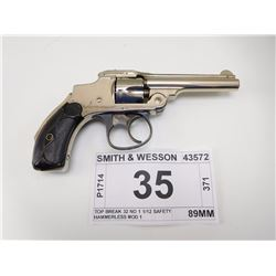 SMITH & WESSON , MODEL: TOP BREAK 32 NO 1 1/12 SAFETY HAMMERLESS MOD 1 , CALIBER: 32 S &W