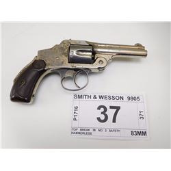 SMITH & WESSON , MODEL: TOP BREAK 38 NO 2 SAFETY HAMMERLESS , CALIBER: 38 S&W