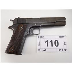 COLT , MODEL: MODEL OF 1911 US ARMY , CALIBER: 45 ACP