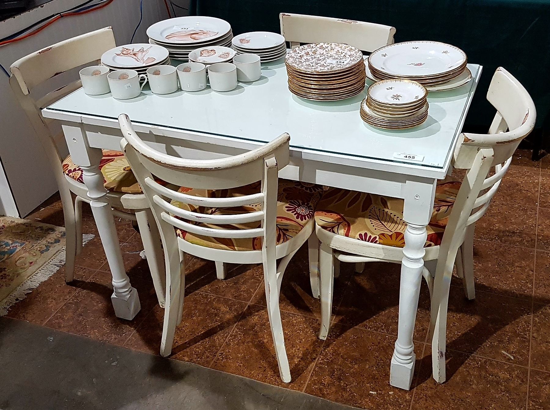 small bistro table 4 chairs grande estate auction. Black Bedroom Furniture Sets. Home Design Ideas