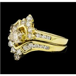 1.56 ctw Diamond Wedding Ring and Band - 14KT Yellow Gold