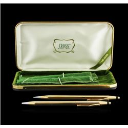 Vintage 14KT Yellow Gold Cross Pen and Pencil Set