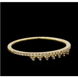 0.1 ctw Diamond Ring - 14KT Yellow Gold