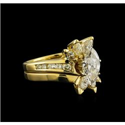 1.92 ctw Diamond Wedding Ring and Band - 14KT Yellow Gold