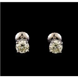 14KT White Gold 1.00 ctw Diamond Solitaire Earrings
