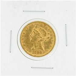1880 $5 AU Liberty Head Half Eagle Gold Coin