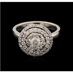 0.89 ctw Diamond Ring - 14KT White Gold