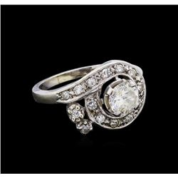 0.92 ctw Diamond Ring - 14KT White Gold