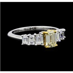 1.60 ctw Diamond Ring - 14KT White and Yellow Gold