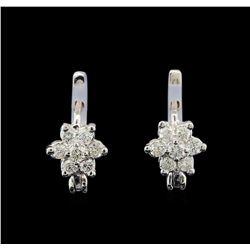 14KT White Gold 0.50 ctw Diamond Earrings