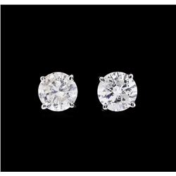 1.23 ctw Diamond Earrings - 14KT White Gold