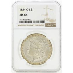 1884-O MS64 NGC Morgan Silver Dollar