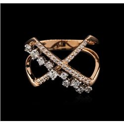 0.39 ctw Diamond Ring - 14KT Rose Gold