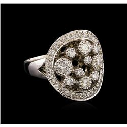 14KT White Gold 0.81 ctw Diamond Ring