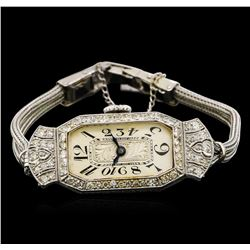 Vintage Glycine Diamond Ladies Watch