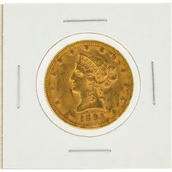1893 $10 AU Liberty Head Eagle Gold Coin