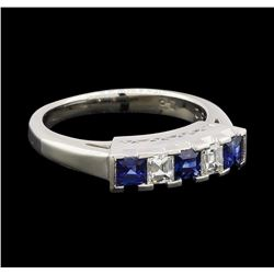 0.52 ctw Sapphire and Diamond Ring - Platinum