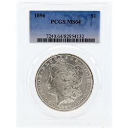 1896 PCGS MS64 Morgan Silver Dollar