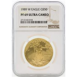 1989-W PF69 Ultra Cameo $50 Gold Eagle