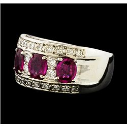 1.50 ctw Ruby and Diamond Ring - Platinum