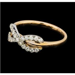 0.32 ctw Diamond Ring - 14KT Rose and White Gold