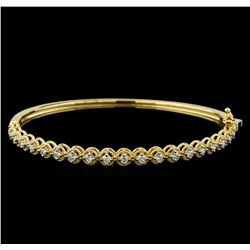 0.75 ctw Diamond Bracelet - 14KT Yellow Gold