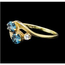 1.50 ctw Quartz Ring - 10KT Yellow Gold