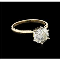 EGL INT Cert 2.20 ctw Diamond Solitaire Ring - 14KT Yellow Gold