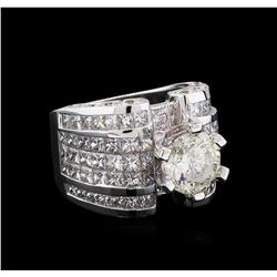 18KT White Gold 12.74 ctw Diamond Ring