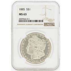1885 MS63 NGC Morgan Silver Dollar