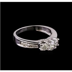 0.60 ctw Diamond Ring - 14KT White Gold